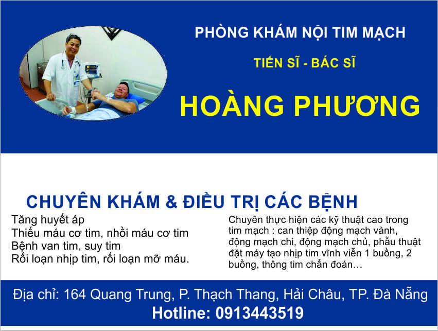 Phòng khám nội tim mạch bác sĩ Hoàng Phương